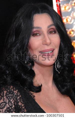 "Cher  at the ""Burlesque"" Los Angeles Premiere, Chinese Theater, Hollywood, CA. 11-15-10 - stock photo"