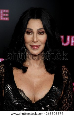 Cher at the Los Angeles premiere of 'Burlesque' held at the Grauman's Chinese Theatre in Hollywood on November 15, 2010.  - stock photo