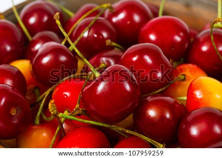Cherries as background close up
