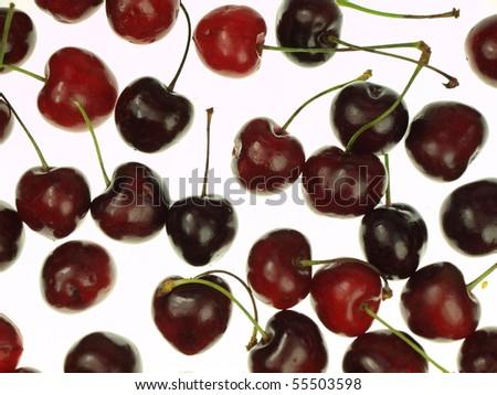 Cherries background - stock photo