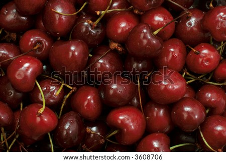 Cherries close-up background