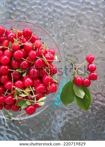 Cherries fresh - stock photo