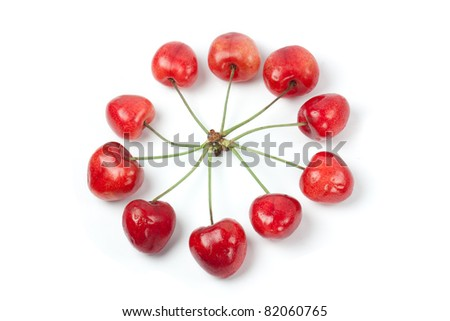 Cherries in circle shape