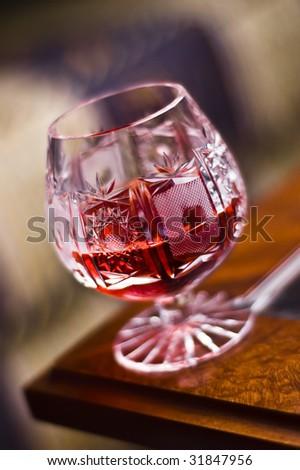 Cherry alcohol - stock photo