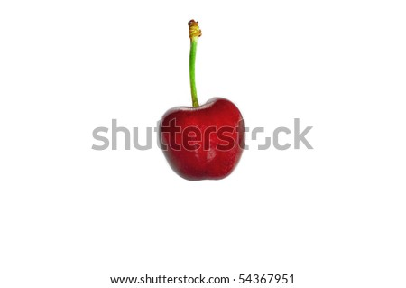 cherry fruit isolated from the background - stock photo