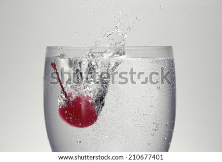 Cherry In A Water Glass