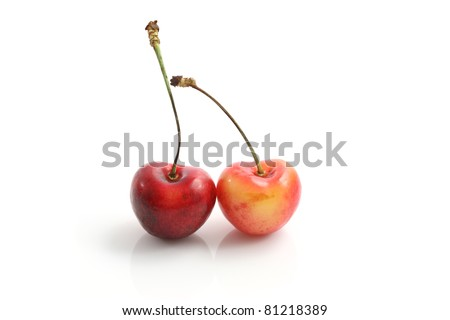 Cherry isolated in white background
