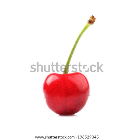 Cherry isolated on white - stock photo