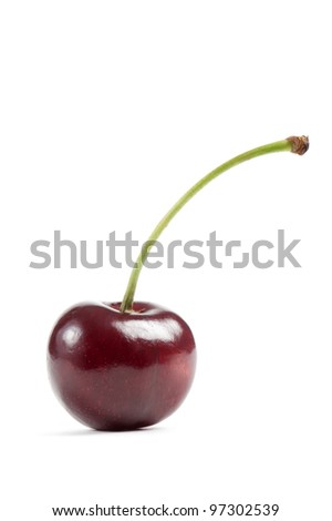 cherry,isolated on white