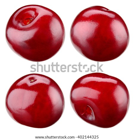 Cherry isolated on white. Collection. With clipping path. - stock photo