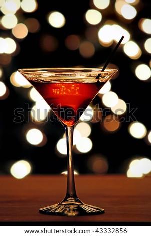 Cherry Martini - stock photo