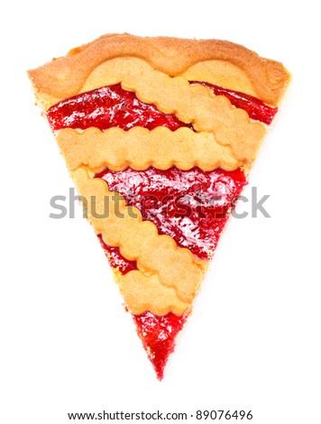 Cherry Pie Slice - stock photo