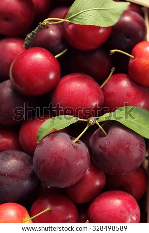 Cherry plums background