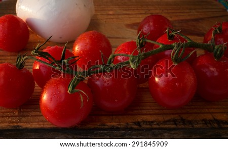 cherry tomato and mozzarella