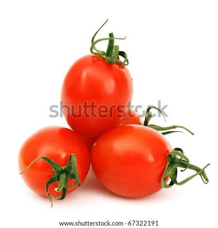 cherry tomato isolated - stock photo