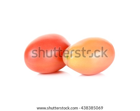 cherry tomato isolated on the white background.