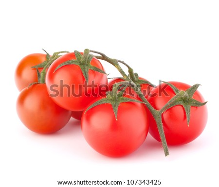 Cherry tomato isolated on white background cutout - stock photo