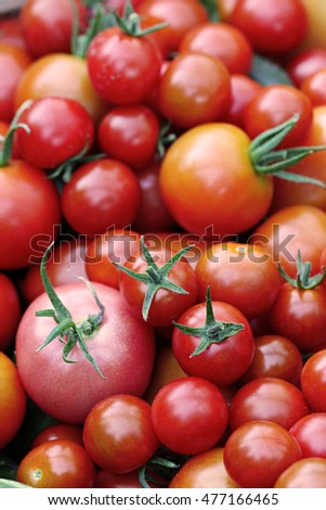 cherry tomatoes background 4