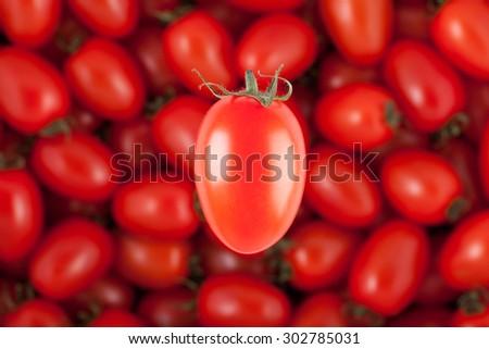 cherry tomatoes balance - stock photo