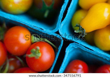 Cherry tomatoes from the union Square Farmers Market - stock photo