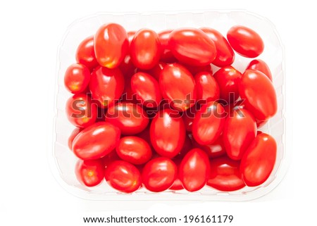 Cherry tomatoes in a box - stock photo