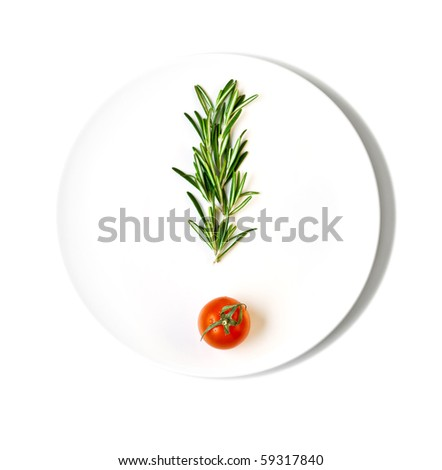 cherry tomatoes in a sign of - stock photo