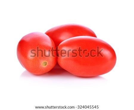 cherry tomatoes isolated on white background. - stock photo