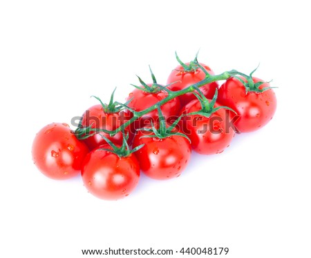 Cherry tomatoes isolated over white background - stock photo