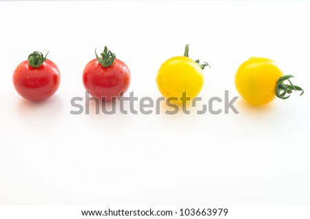 Cherry Tomatoes Series (2 red& 2 yellow) - stock photo