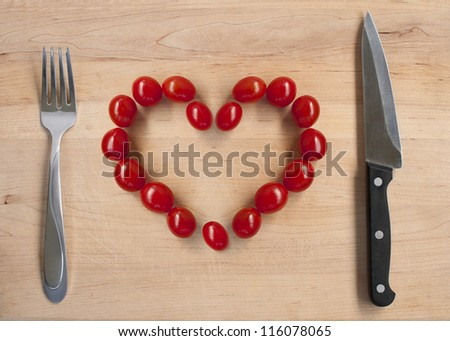 cherry tomatos ready to eat - stock photo