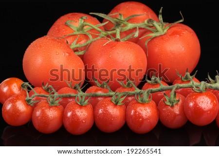 Cherry vine tomatoes detail - stock photo
