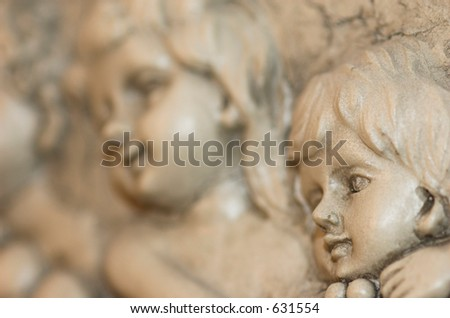 Cherub angels - stock photo