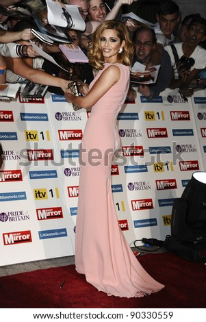 Cheryl Cole arriving for the 2011 Pride Of Britain Awards, at the Grosvenor House Hotel, London. 04/10/2011 Picture by: Steve Vas / Featureflash - stock photo