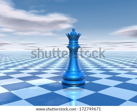 chess abstract business background with queen - stock photo