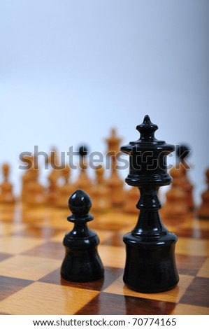 Chess advising to strategic behavior - stock photo