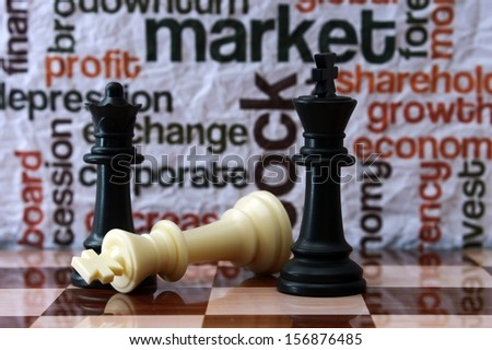 Chess and market concept - stock photo