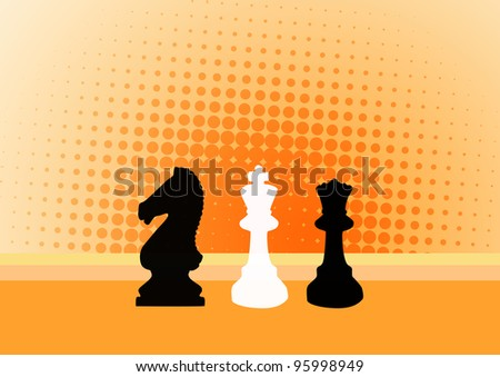 Chess background with space (poster, web, leaflet, magazine) - stock photo