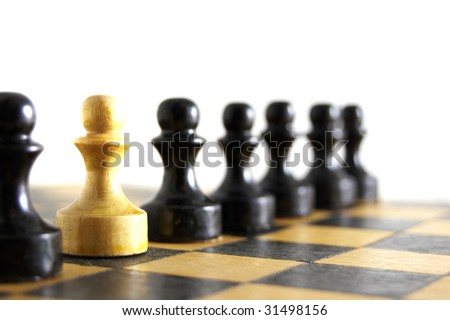 Chess battle - stock photo