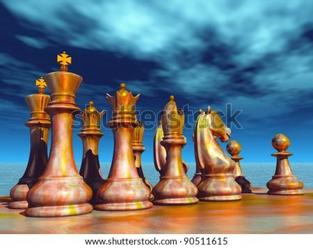 Chess battle - stock photo