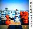 Chess battle -defeat - stock photo