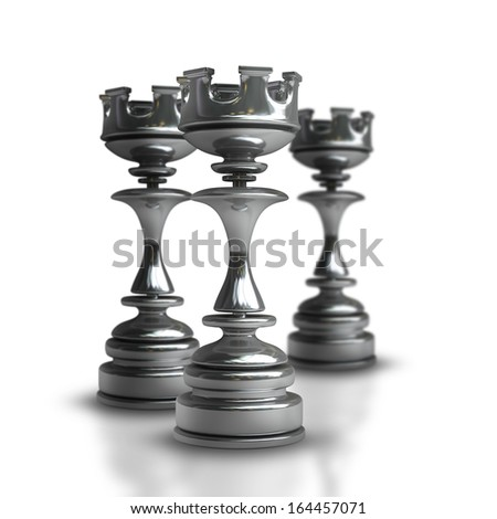 Chess black Castle isolated on white background High resolution 3d