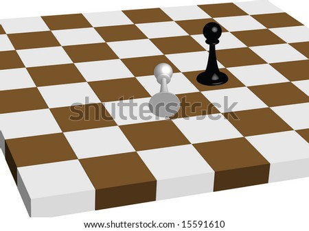 Chess Board an Pawns