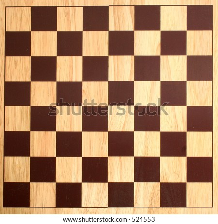 chess board from the top - stock photo