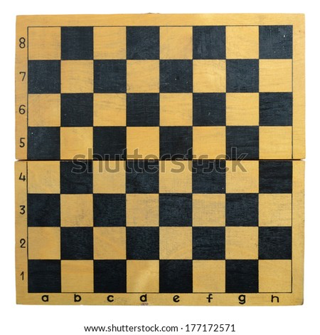 chess board isolated on a white background  - stock photo