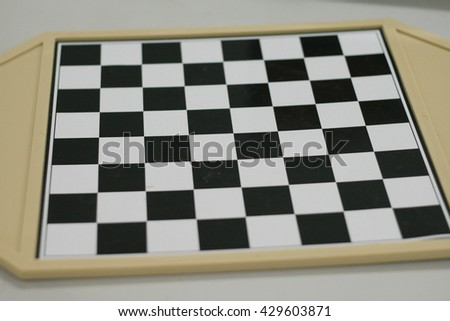 Chess board, selective focus - stock photo