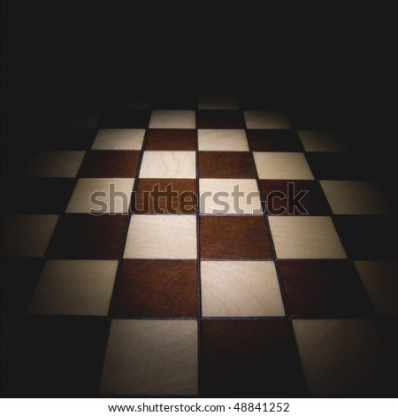Chess board. This background image. - stock photo