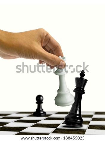 Chess Checkmate Move on King - stock photo