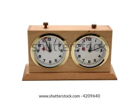 Chess Clock Isolated - stock photo