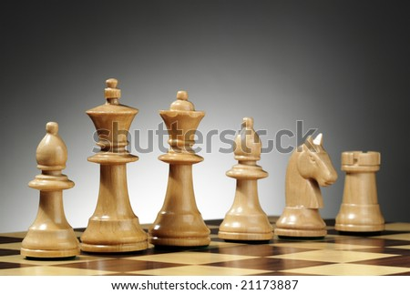 Chess composition - stock photo