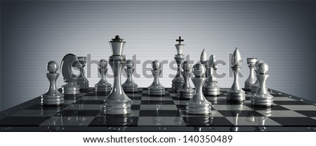 Chess concept image - checkmate. High resolution 3D render - stock photo